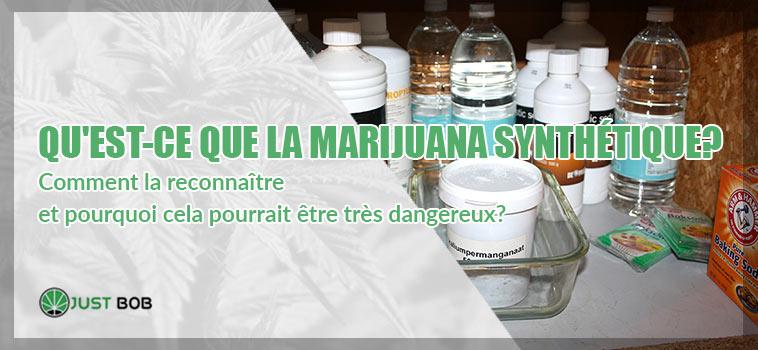 La marijuana syntétique: qu'est-ce que