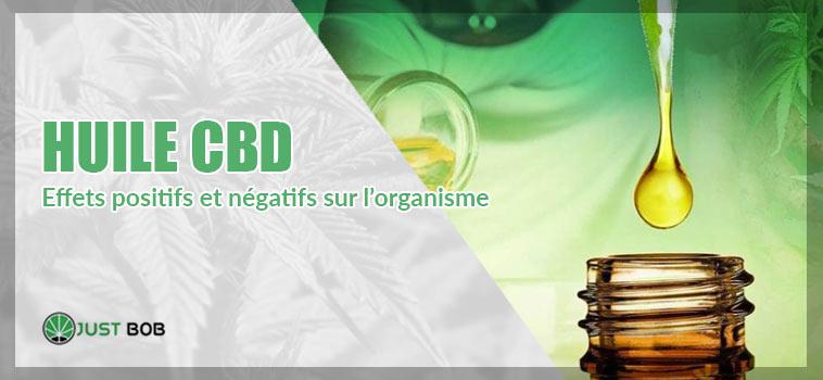 huile cbd- effets positifs et négatifs sur l'organisme