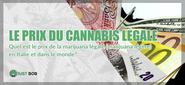 Le prix du cannabis CBD légale