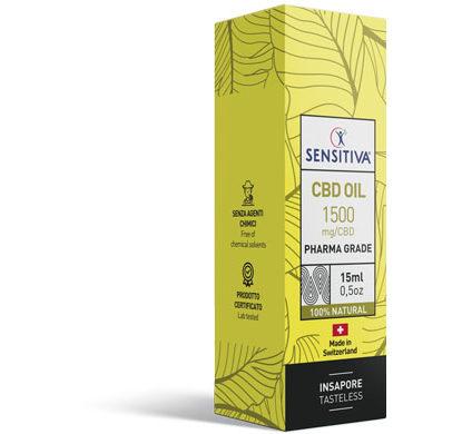 Emballage Huile de CBD au format 15 ml | 10% - Sensitiva