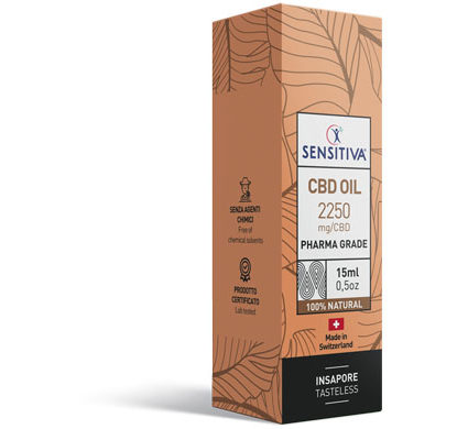 Emballage Huile de CBD au format 15 ml | 15% - Sensitiva