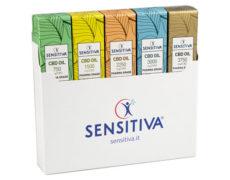 Emballage kit 5 variété de huile CBD Sensitiva