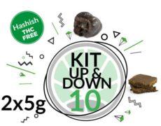Kit de test Up & Down 2 varietés de hashish cbd 10 grammes