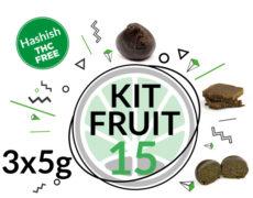 Kit de test FRUIT HASH 3 variétés de haschisch légal á CBD 15 grammes