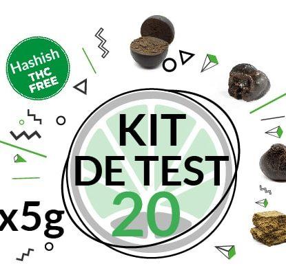 Kit de test 4 variétés de haschisch légal CBD 20 grammes