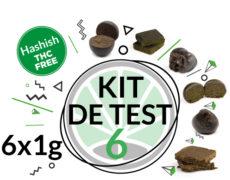 Kit de test 6 variétés de haschisch légal CBD 6 grammes