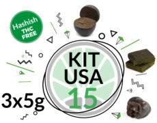 Kit Usa 3 variétés de haschisch légal CBD 15 grammes