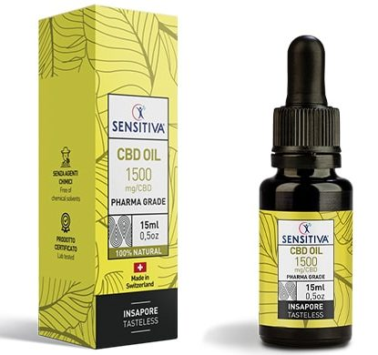 Flacon et Contenant 15 ml Huile CBD au 10% - Sensitiva