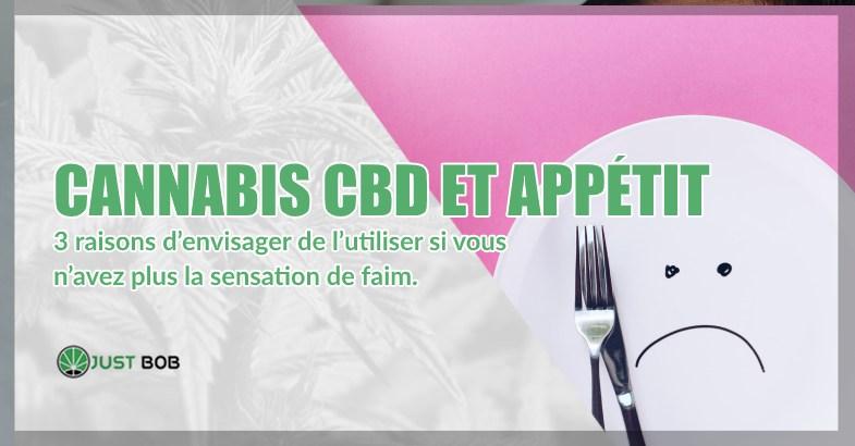 Cannabis CBD et appétit