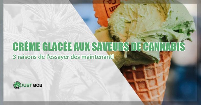 Crème glacée aux saveurs de cannabis cbd