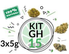Kit de test GH 3 varietés de cannabis légal 15 grammes