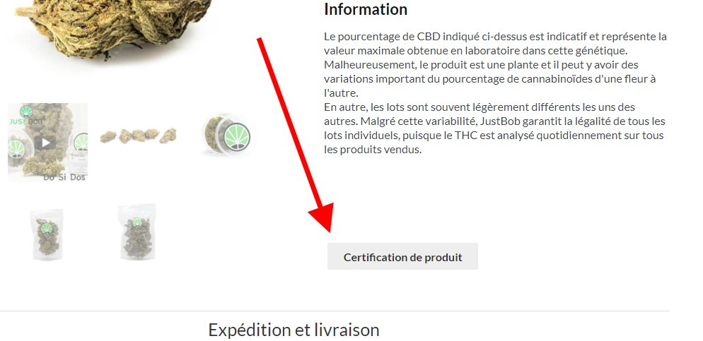 certification de canabis légal en Justbob