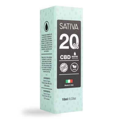 Flacon Huile CBD 10 ml au 20% - Sativa