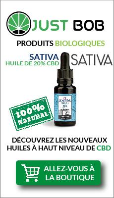 Bouteille d'huile 20% au CBD-Sativa