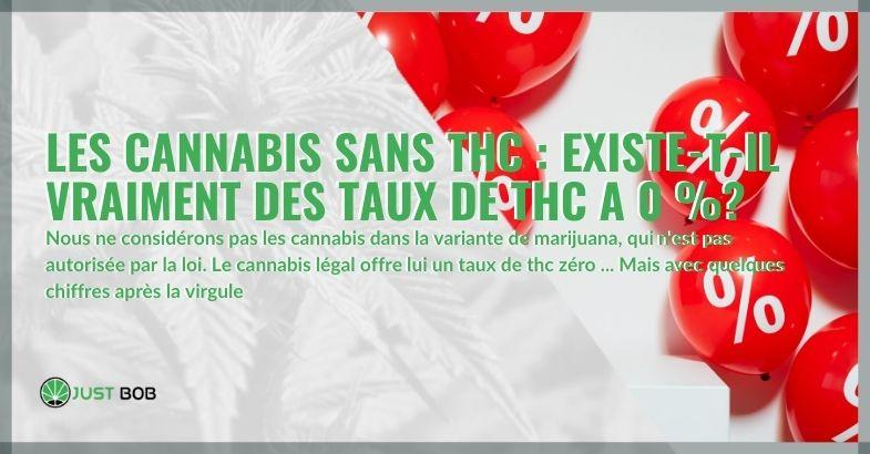 Les cannabis sans THC : existe-t-il vraiment des taux de THC a 0 %?