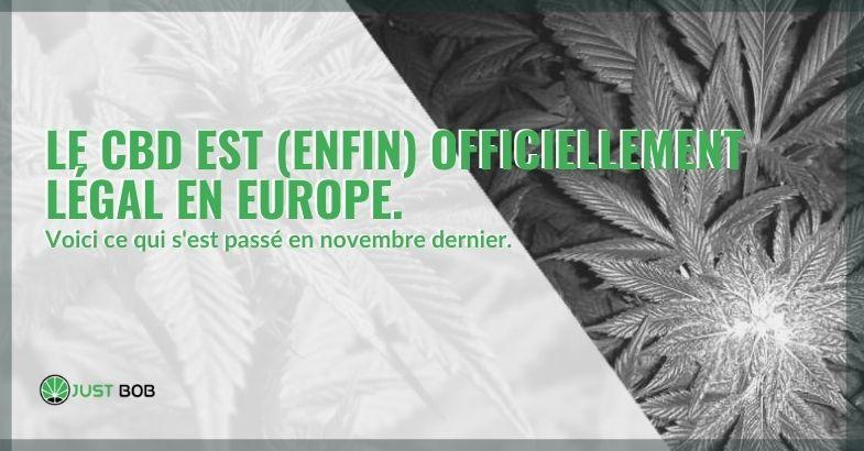 Le CBD a enfin été officiellement légalisé en Europe