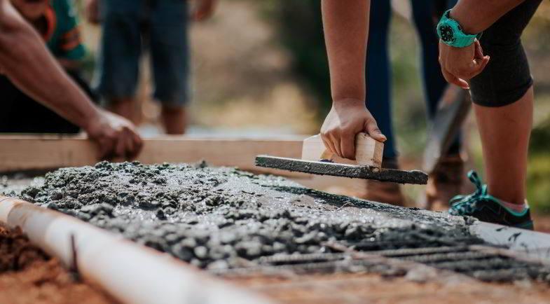 Chanvre dans la construction : utilisation du béton.