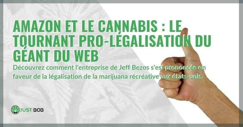 Amazon en faveur de la légalisation du cannabis